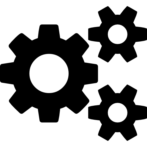 Cogs, One Big And Two Small Icons Free Download