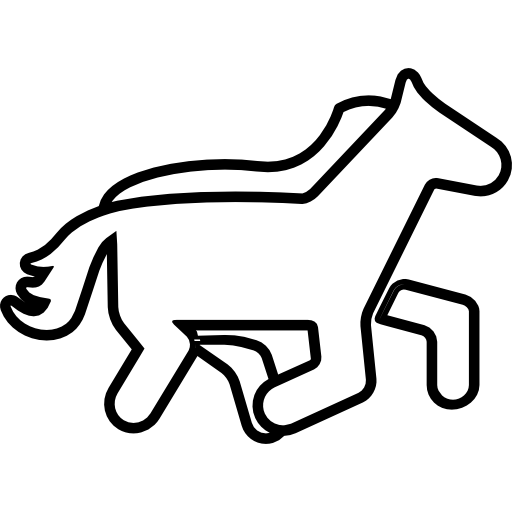 Horse Outline Cartoon Icons Free Download