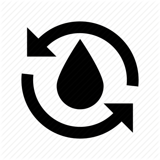 Purified Water Symbol, Recycle Water Droplet, Recycling Arrow