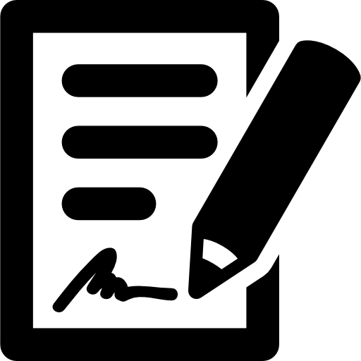 Signing The Contract Icons Free Download