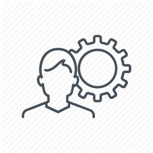 Arrows, Circles, Cog, Cycle, Gear, Man, Resources Icon