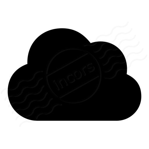 Iconexperience I Collection Cloud Dark Icon