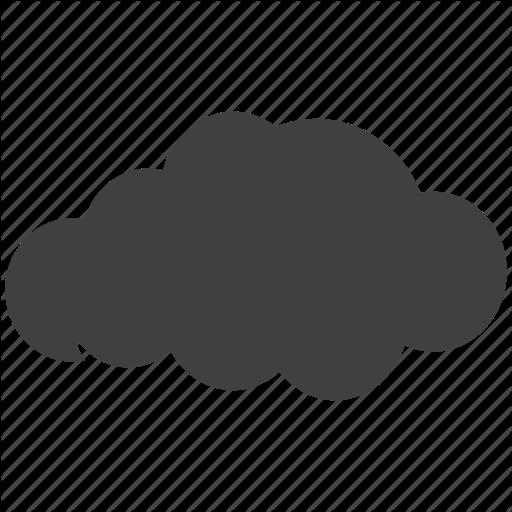 Cloud, Cloudy, Dark Icon