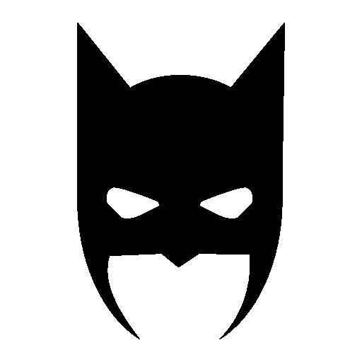 Batman Head Cover Vector Icon