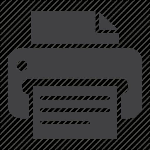 Printer Icon Schematic Diagram