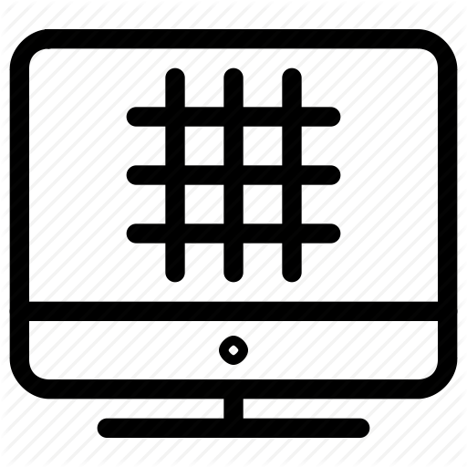 Column, Design, Display, Grid, Monitor, Row, Ruler, Screen Icon