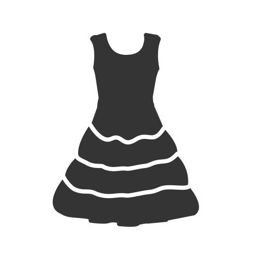 Woman's, Dress Icon Free Of Clothing Icons Black