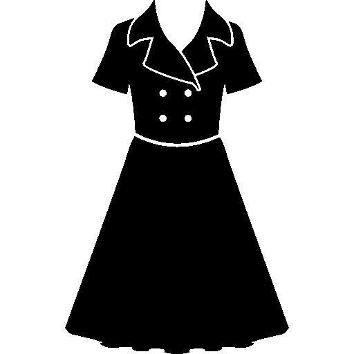 Dress Of Vintage Black Design Style
