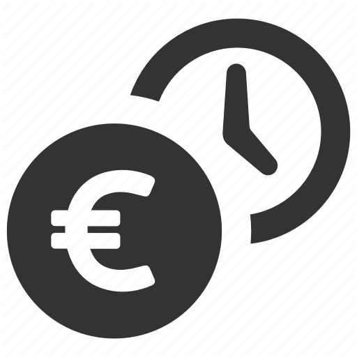 Earnings, Euro, Money, Payment, Salary, Savings, Time Icon