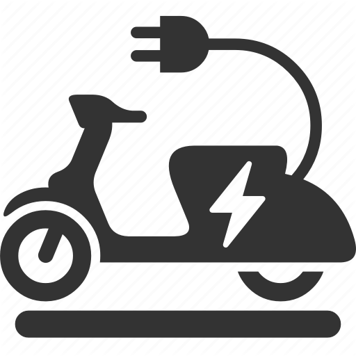 Electric, Ev, Motorcycle, Scooter Icon