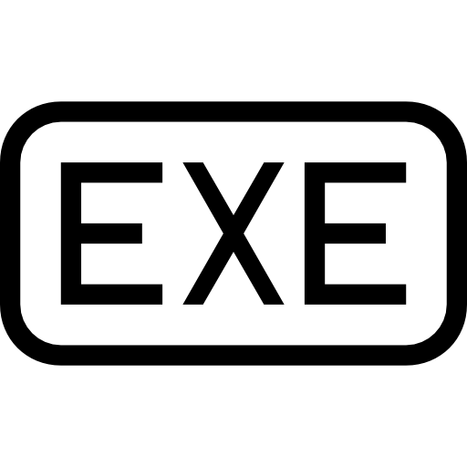 Exe Symbol Of Executable For Interface Of Rounded Rectangular