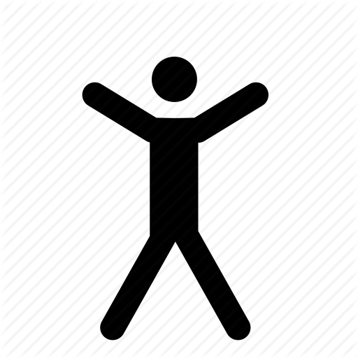 Exercise, Jump, Jumping, Jumping Jacks, Man, Person Icon