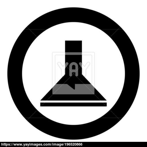 Exhaust Hood Icon Black Color In Circle Vector