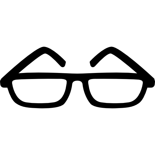 Eyeglasses Of Thin Shape Icons Free Download