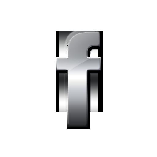Glossy Silver Icon Social Media Logos Facebook Logo