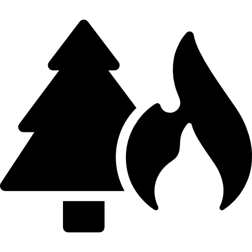 Tree, Maps And Flags, Risk, Flame, Fire Icon