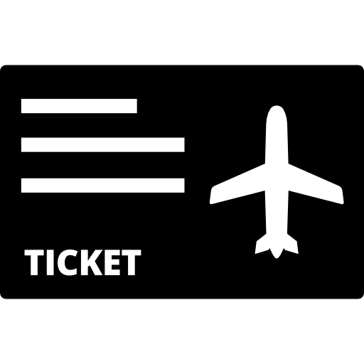 Airplane Flight Ticket Icons Free Download