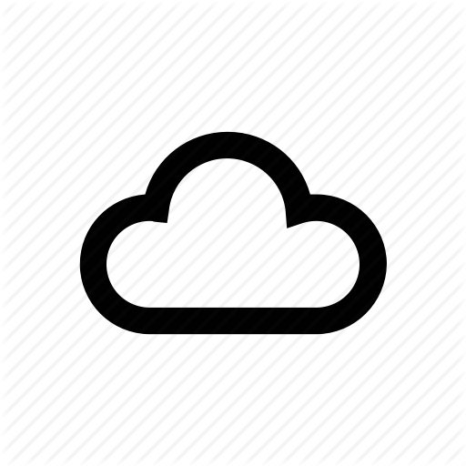 Climate, Cloud Vector Icon For All Weather, Rain, Snow