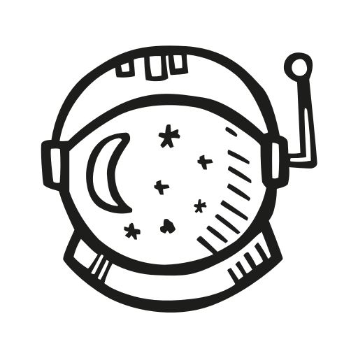 Astronaut, Astronomy, Helmet, Outer Space, Space, Void Icon