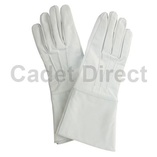 White Leather Gauntlet Gloves Ebay