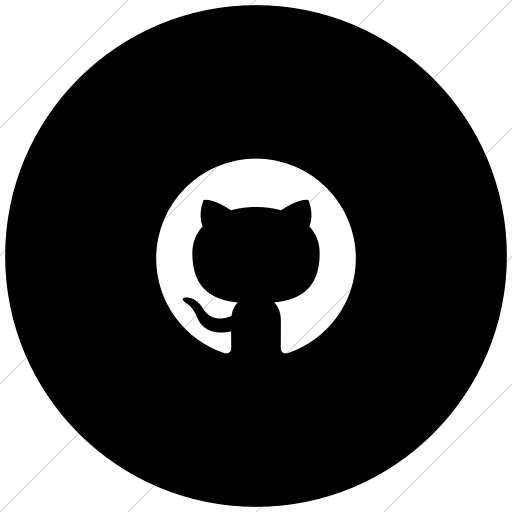 Flat Circle White On Black Foundation Social Github Icon