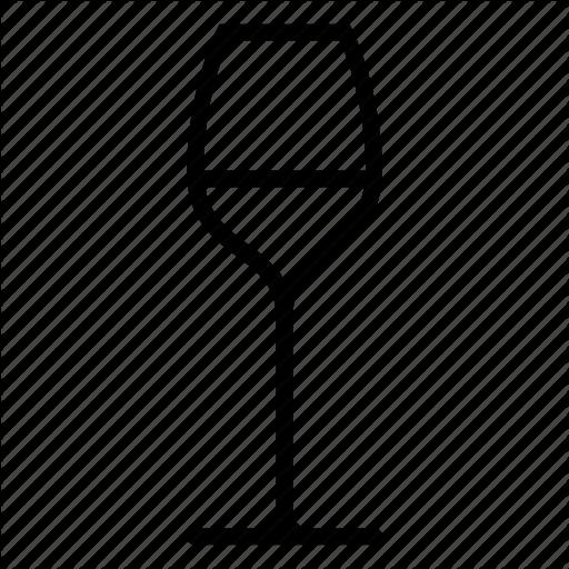 Glass, White, Wine Icon