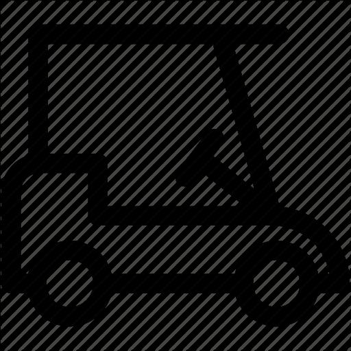 Golf Car, Golf Cart, Golf Club, Golf Course, Golf Vehicle Icon