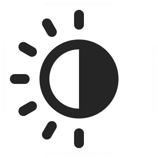 Sun Half Icon Iconexperience