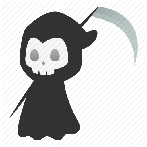 Death, Devil, Evil, Grim Reaper, Halloween, Horror, Scythe Icon