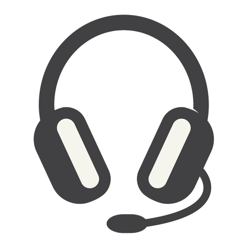 Flat Headphone Icon With Thick Stroke