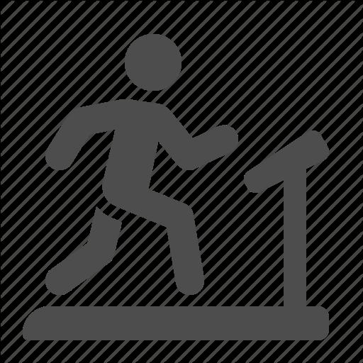 Equipment, Exercising, Fitness, Gym, Man, Running, Treadmill Icon