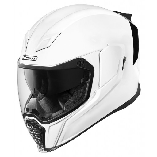 Icon Airflite Gloss White Motorcycle Helmet Quad Bikes Wales Online