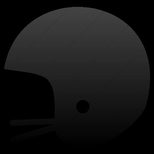 Simple Black Gradient Classica Helmet Icon