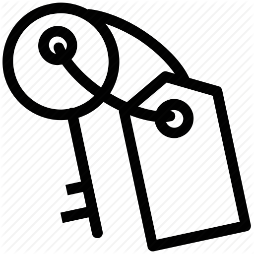 Door Key, Key, Key Chain, Key Holder, Password Icon