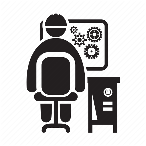 Computer, Control, Monitoring, Operator, Worker Icon