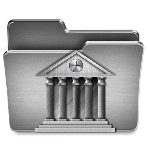Library, Folder Icon Free Of Steel System Icons
