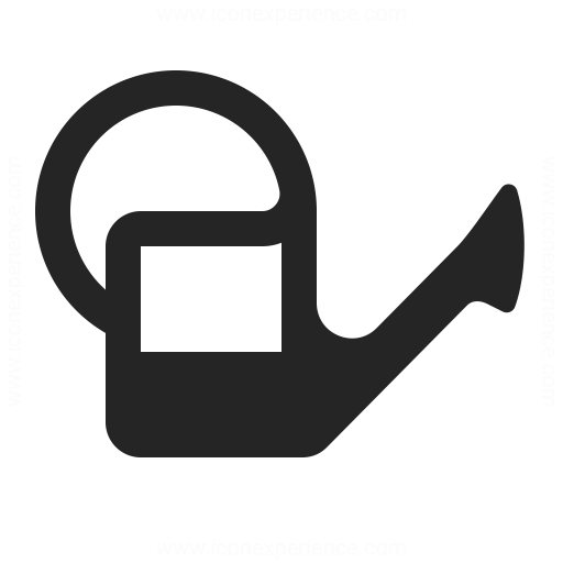 Watering Can Half Icon Iconexperience