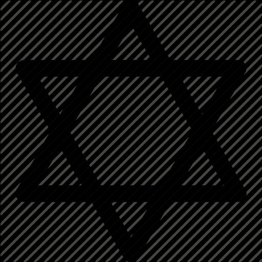 David, Israel, Jewish, Judaism, Religion, Religious, Star Icon