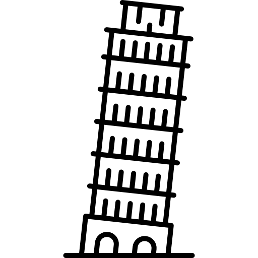 Leaning Tower Of Pisa Icons Free Download
