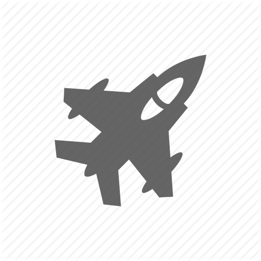 Aircraft, Fighter, Jet, Plane Icon