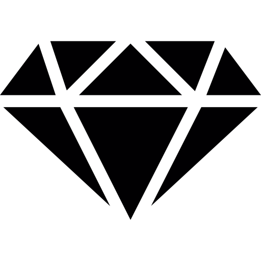 Diamond With White Outline Icons Free Download