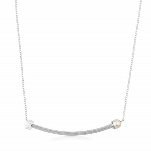 Silver Icon Mesh Necklace