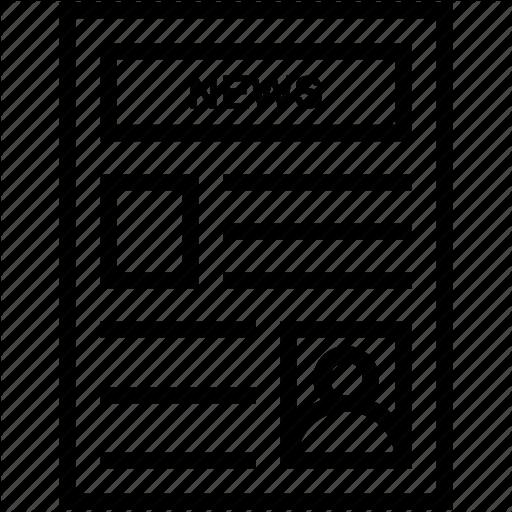 Journal, News, Newsletter, Newspaper, Publication Icon