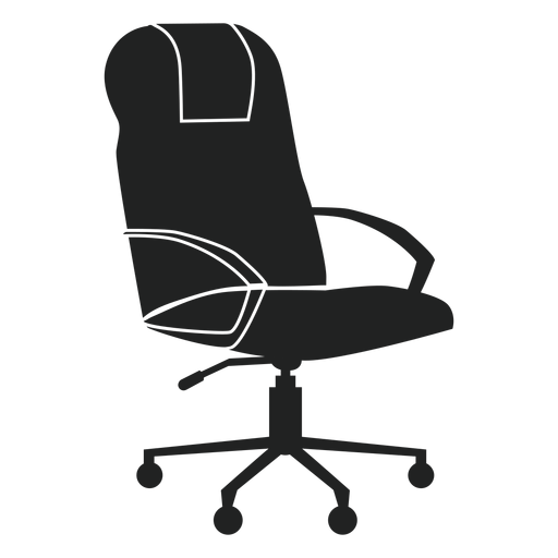 Leather Office Chair Flat Icon
