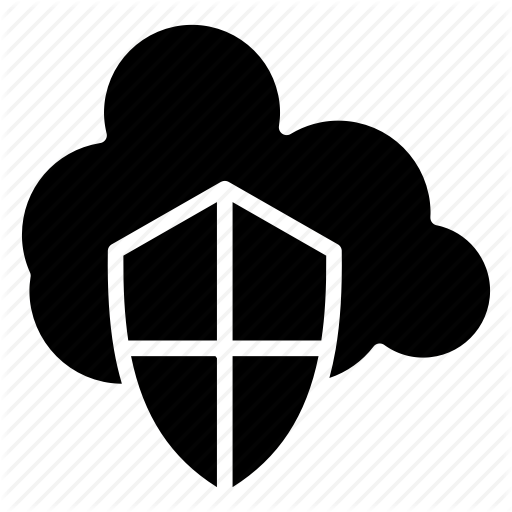 Cloud, Protection, Security, Server, Shield Icon