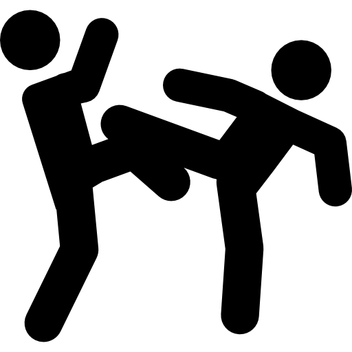 Martial Arts Couple Fight Icons Free Download