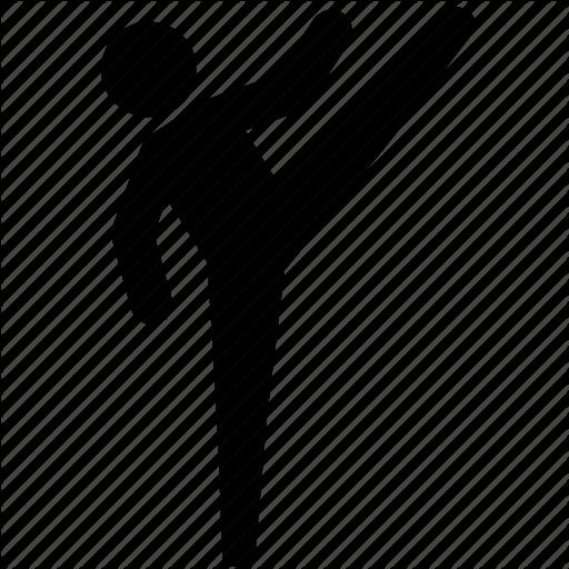 High Kick, Judo, Karate, Martial Arts, Round House, Taekwondo Icon