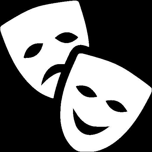 White Theatre Masks Icon