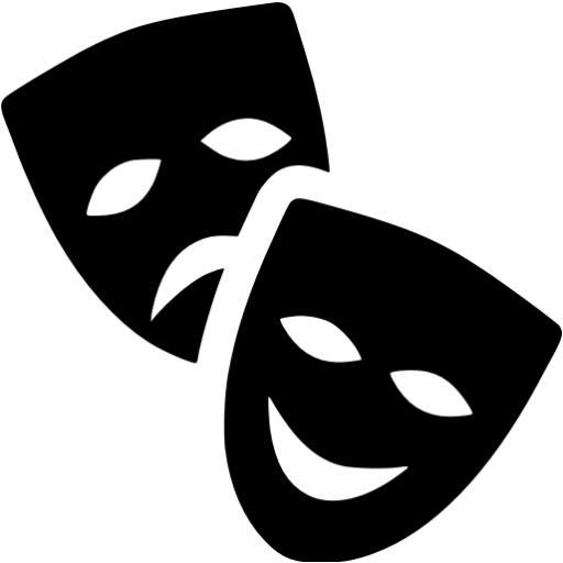 Black Theatre Masks Icon