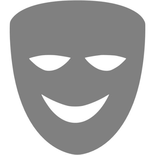 Gray Comedy Mask Icon